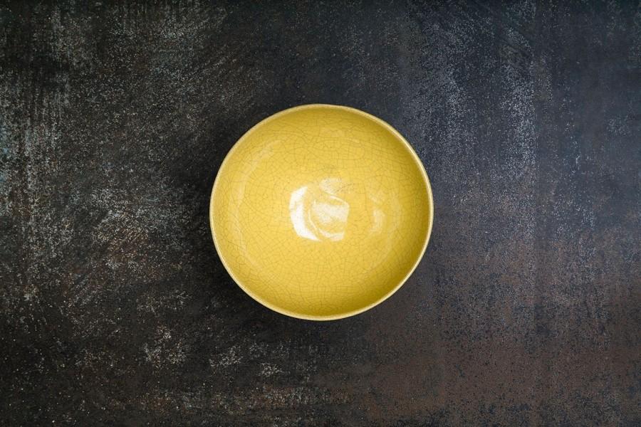KRAKLĖ geltonas dubenėlis
